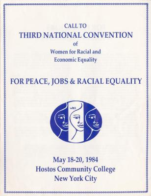 Call to third National Convention of Women for Racial And Economic Equality