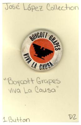 Button: Boycott grapes, Viva la causa