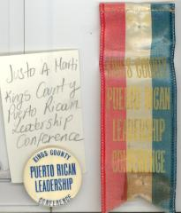 Button: Puerto Rican leadership conference, Kings County