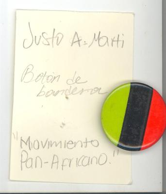 Button: bandera Movimiento Pan-Africano