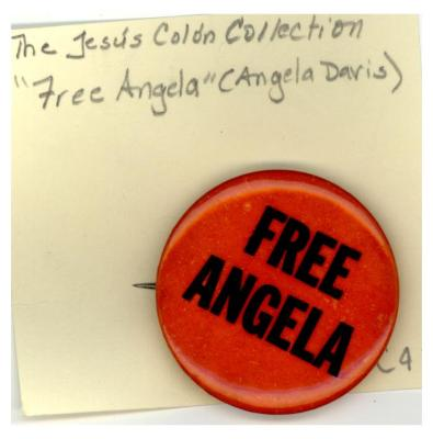 Button: Free Angela