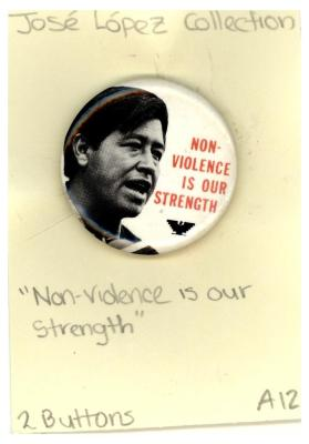 Button: Non-violence is our strength