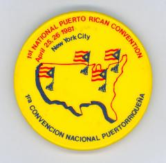 Button: 1st National Puerto Rican Convention