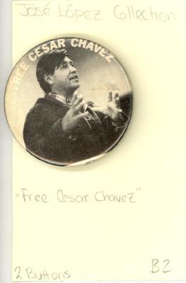 Button: Free Cesar Chavez