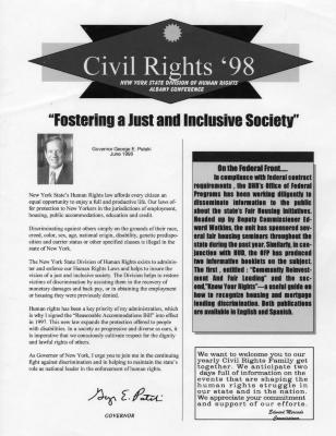 Civil Rights' 98, New York State Division of Human Rights Albany Conference
