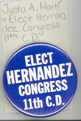 Button: Elect Hernandez for Congress 11th C.D.
