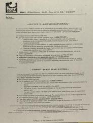 Elección de la Junta Escolar Comunal / Community School Board Elections