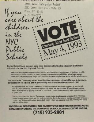 Vote - Community School Board Elections