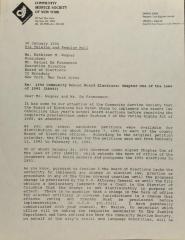 Correspondence from Community Service Society of New York