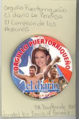 Button: Orgullo Puertorriqueño from el Diario La Prensa