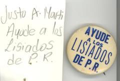 Button: Ayude a los lisiados de Puerto Rico