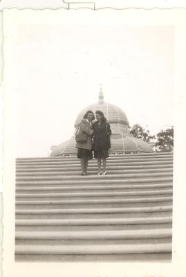 Blase Camacho and friend posing in front of a dome