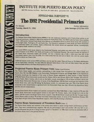 The 1992 Presidential Primaries
