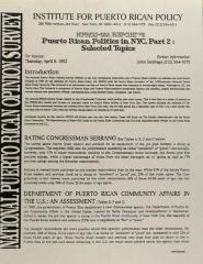 Puerto Rican Politics in NYC, Part 2: Selected Topics