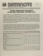 Latino Intergroup Relations in the New York Area: October 1991