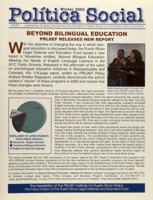 Beyond Bilingual Education: PRLDEF Releases New Report