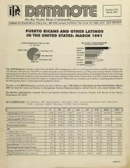 Puerto Ricans and Other Latinos in the United States: March 1991