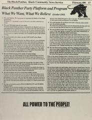 Black Panther Party Platform and Program - What We Want, What We Believe