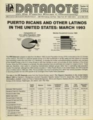 Puerto Ricans and Other Latinos in the United States: March 1993