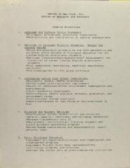 ASPIRA of New York, Inc. - Office of Research and Advocacy - 1988-89 Priorities