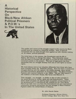 A Historical Perspective on Black/ New Afrikan Political Prisoners & P.O.W.s in the United States