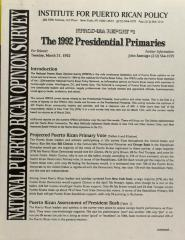 The 1992 Presidential Primaries