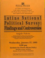 Latino National Political Survey: Findings and Controversies