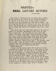 Wanted: Real Latino Actors