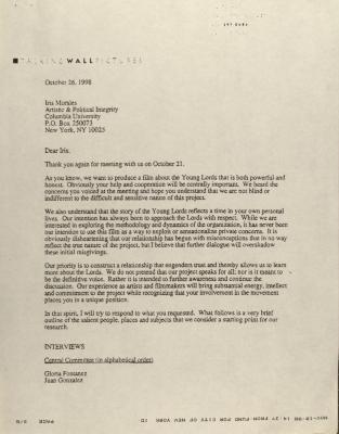 Correspondence to Columbia University