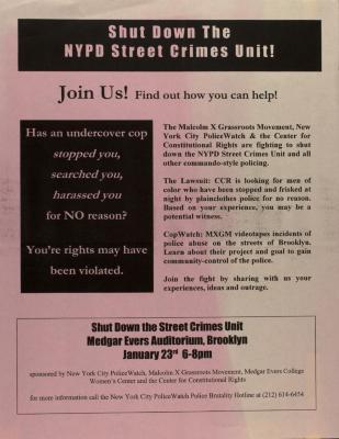 Shut Down the NYPD Street Crimes Unit!