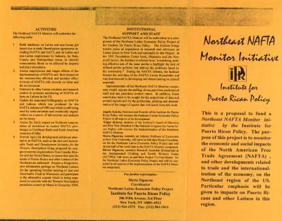 Northeast NAFTA Monitor Initiative - Institute for Puerto Rican Policy