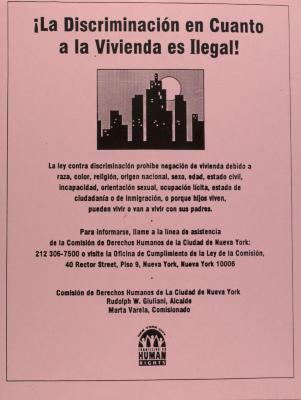 La Discriminación en Cuanto a la Vivienda es Ilegal! / Housing Discrimination is Against the Law!