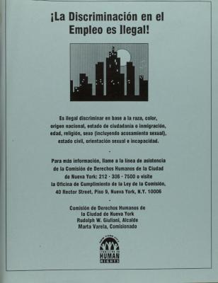 La Discriminación en el Empleo es Ilegal! / Employment Discrimination is Against the Law!