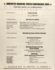 ¡MUÉVETE! Boricua Youth Conference 1995 - Taking Back La Comunidad