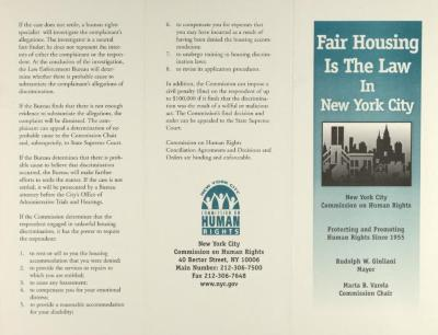 Fair Housing is the Law in New York City