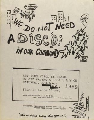 We Do Not Need a Disco in Our Community