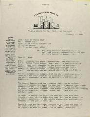 Correspondence to the New York City Commission on Human Rights