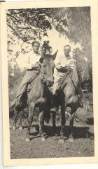 Lawrence Camacho and Luiz Caravalho on horseback