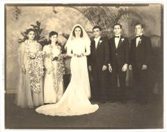 Blase Camacho, maid of honor, and wedding party