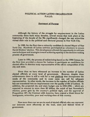 Political Action Latin Organization - P.A.L.O.