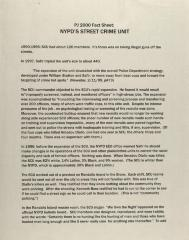 PJ 2000 Fact Sheet: NYPD's Street Crime Unit