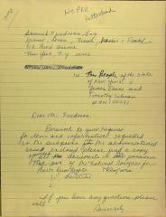 Draft of Correspondence from Richie Pérez