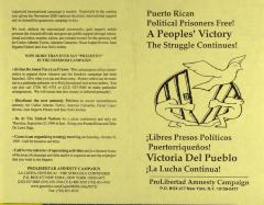 Puerto Rican Political Prisoners Free! - A Peoples Victory - The Struggle Continues