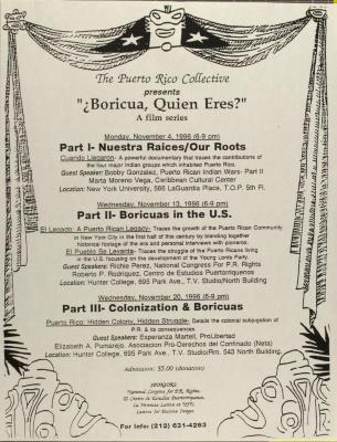 The Puerto Rico Collective Presents Boricua, Quien Eres?