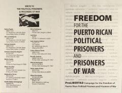 Freedom For the Puerto Rican Political Prisoners and Prisoners of War