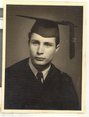 Larry Camacho's graduation portrait