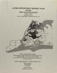 Latino Opportunity District Plan For the New York City Council