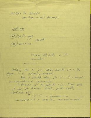 Meeting of Puerto Rican Legal Defense & Education Fund - Manuscript Notes