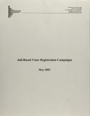 Jail-Based Voter Registration Campaigns