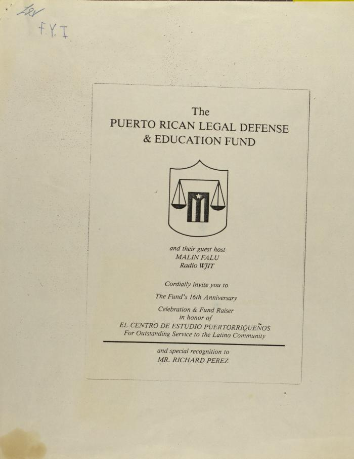 16th Anniversary of the Puerto Rican Legal Defense & Education Fund